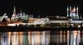 Kazan Kremlin by night Stock Photography