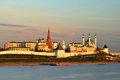 Kazan Kremlin at sunset Royalty Free Stock Photo