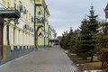 Kazan, Russia. Kremlin street - street in the historical part of the city Royalty Free Stock Photo