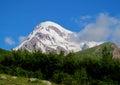 Kazbek Mountain Covered With S...