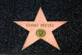 Keanu Reeves Star on the Hollywood Walk of Fame Royalty Free Stock Photo