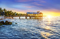 Keay west spirit pier at the beach in key florida usa Stock Photography