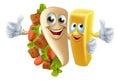 Kebab And Chip Mascots