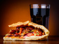 Kebab and cola drink still life with traditional doner Stock Photography