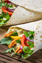 Kebab with vegetables and chicken closeup of Royalty Free Stock Photo
