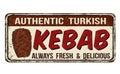 Kebab vintage rusty metal sign