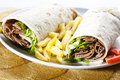 Kebab wrap Royalty Free Stock Photo