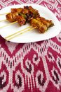 Kebabs asian style fast food Royalty Free Stock Photo