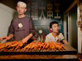 Kebabs shop  china Royalty Free Stock Image