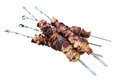 Kebabs on skewers. Stock Image