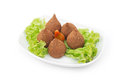 Kebbeh plate isolated on white background Royalty Free Stock Photo
