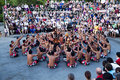 Kecak and Trance Dance at Dusk, Bali, Indonesia Royalty Free Stock Photo