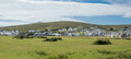 Keel village on achill island panoramic view of in county mayo ireland Stock Image