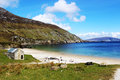 Keem beach achill island ireland view to the Royalty Free Stock Photography