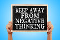 Keep Away From Negative Thinking Royalty Free Stock Photo