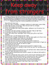 Keep away from strangers poster Royalty Free Stock Photo