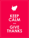 Keep calm background and give thanks Royalty Free Stock Photography