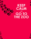 Keep calm background and go to the zoo Royalty Free Stock Image