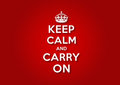 Keep Calm and Carry On Royalty Free Stock Photo