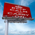 Keep calm and carry on billboard
