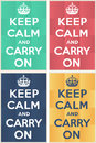 Keep calm and carry on mockup for many purposes Royalty Free Stock Image