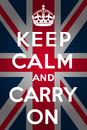 Keep calm and carry on - Union Jack Royalty Free Stock Photo