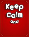 Keep calm design creative abstract vector illustration Royalty Free Stock Images
