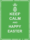 Keep calm and happy easter poster for spring season greeting card webpage commercial campaign Stock Photos