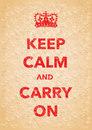 Keep calm imitation poster