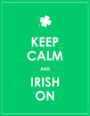 Keep calm and irish on modern vector background Stock Images