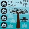 Keep calm life tree vector
