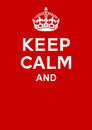 Keep calm poster Royalty Free Stock Photo