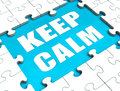 Keep Calm Puzzle Shows Calmness Relax And Composed Royalty Free Stock Photography