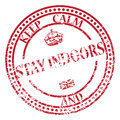 Keep Calm And Stay Indoors Stamp