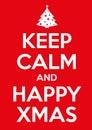 Keep calm xmas original graphic elaboration poster Stock Photo