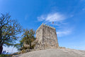 Keep of castle where the first king of portugal imprisoned his mother povoa de lanhoso april after he defeated her in Stock Images