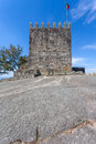 Keep of castle where the first king of portugal imprisoned his mother povoa de lanhoso april after he defeated her in Stock Image