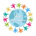 Keep children s happiness group of children all around the worl world vector Royalty Free Stock Photo