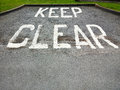 Keep Clear sign UK Royalty Free Stock Photo