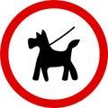 Keep dog on lead Royalty Free Stock Photos