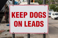 Keep Dogs on Leads Royalty Free Stock Photo