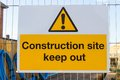 Keep at the entrance to a construction site a Royalty Free Stock Image