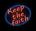 Keep the faith sign. Royalty Free Stock Photo