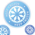Keep frozen food packaging label badge Stock Images