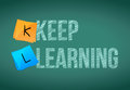 Keep learning education concept illustration design graphic Royalty Free Stock Photo