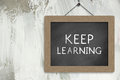 Keep Learning Sign Royalty Free Stock Photo