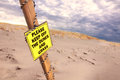 Keep off the dunes and grass sign on a beach in cape cod Stock Photos