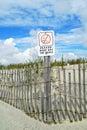 Keep off the dunes sign on a beach Stock Photos