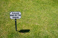 Keep off the grass polite notice saying please Stock Photography