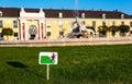 Keep off the grass sign at schönbrunn palace austria Stock Photos